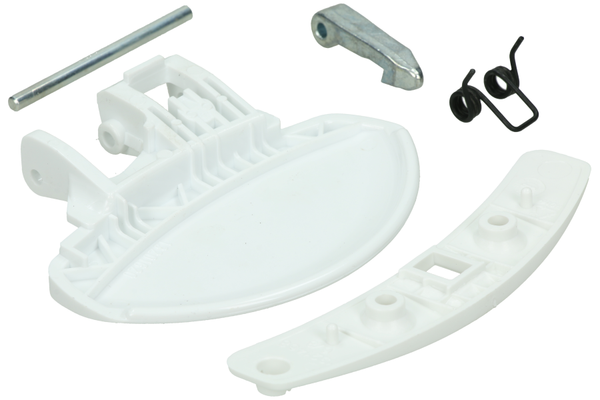 Door Handle (Set - complete - white) for washing machine 50277555004