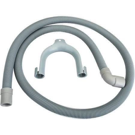 Universal Straight to Hooked End 1.5m Drain Hose - For 21mm Outlets