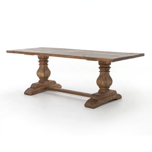 "Durham Dining Table-87""-Bleached Oak"