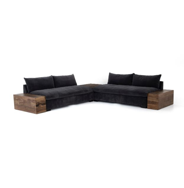 Grant Armless Sofa-Henry Charcoal