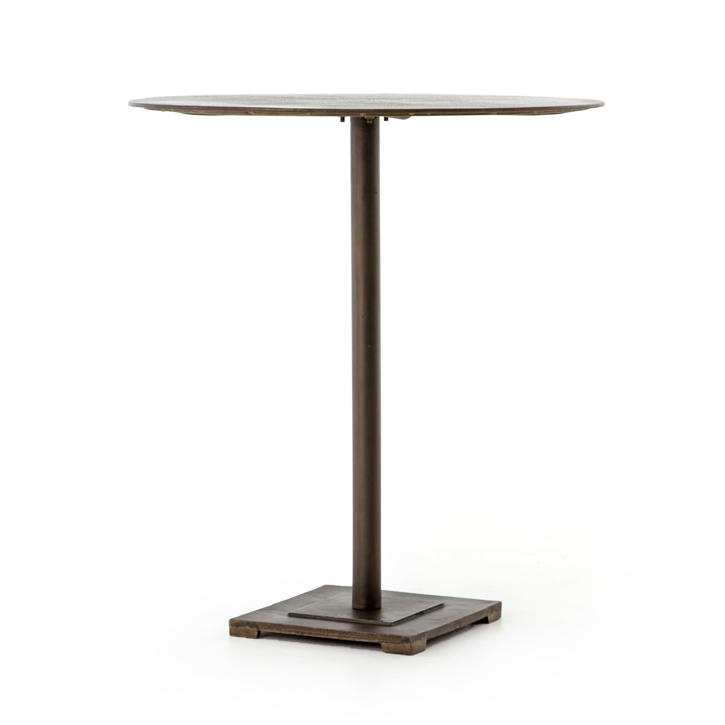 Fannin Counter Table-Aged Brass