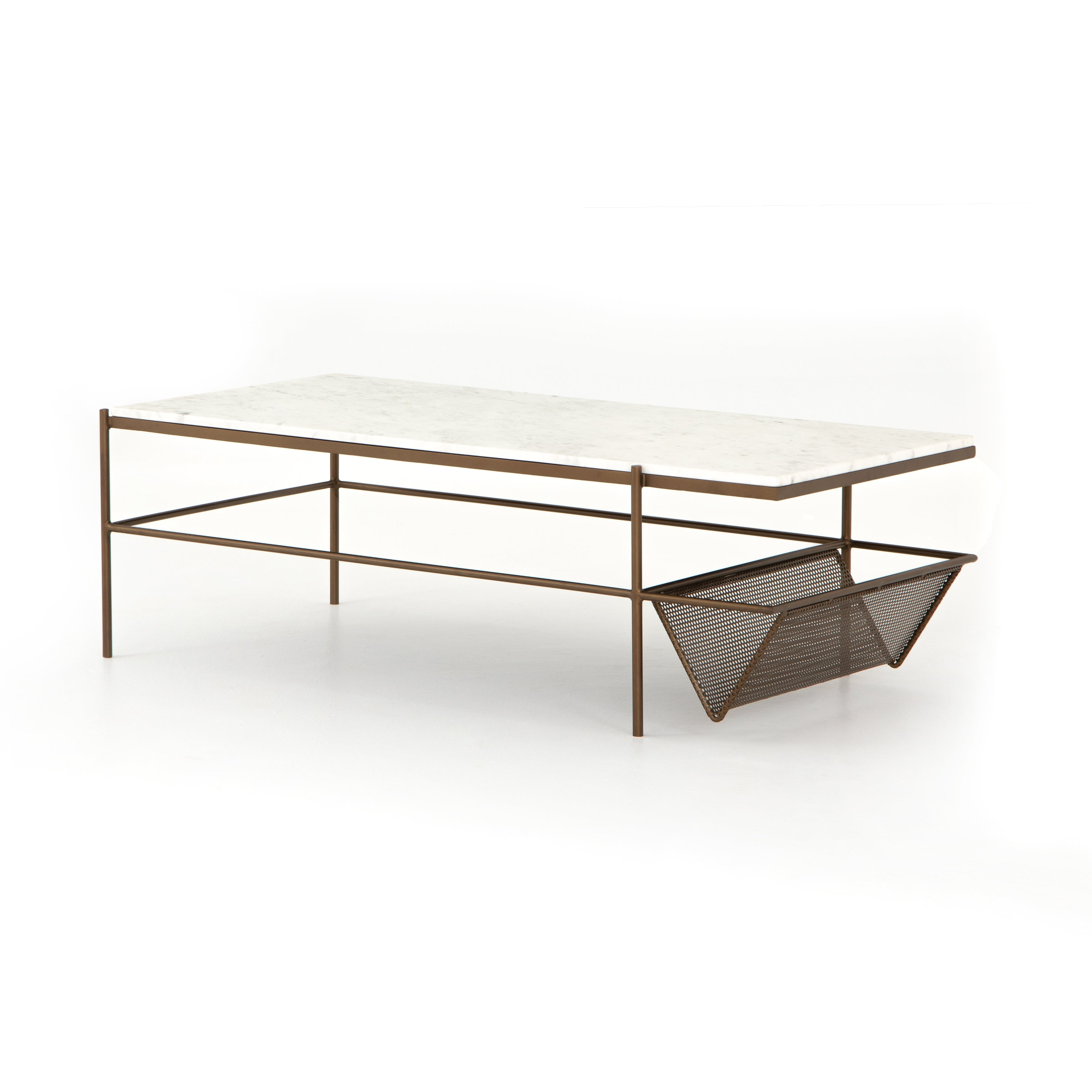 Felicity Coffee Table-Matte Brass