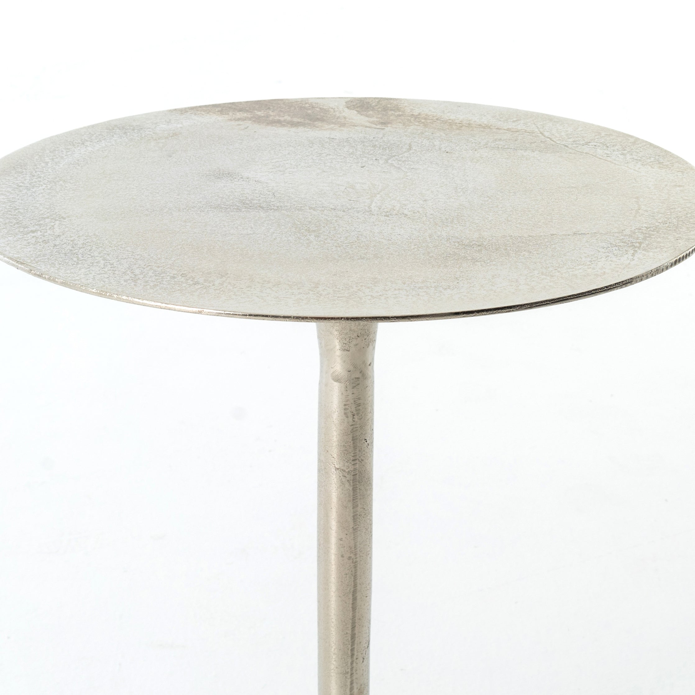 Tulip Side Table-Raw Nickel