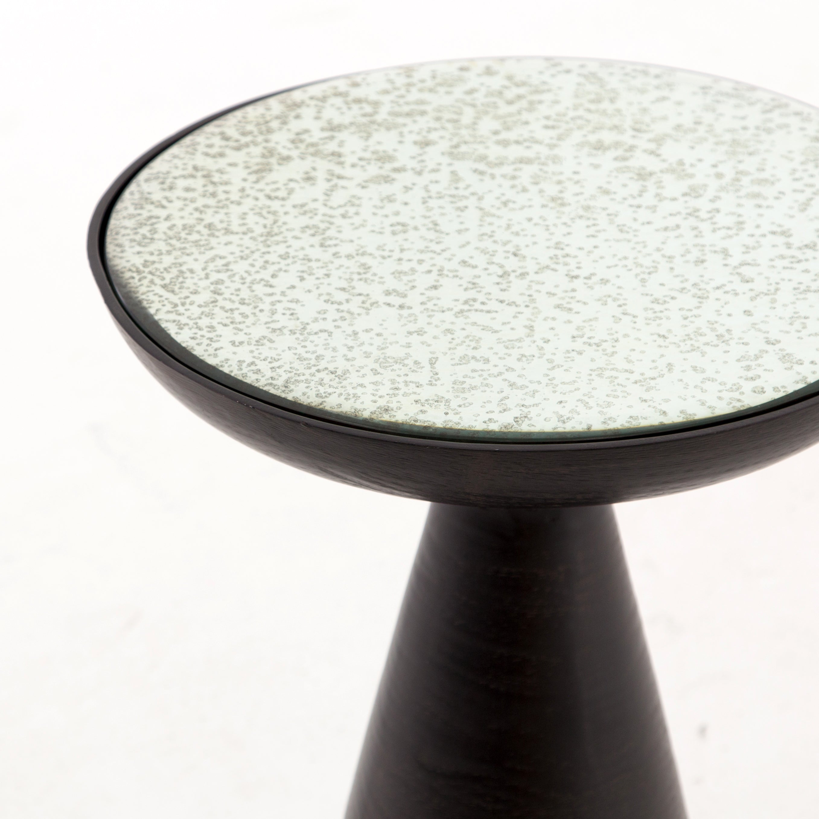 Marlow Mod Pedestal Table-Brushed Bronze