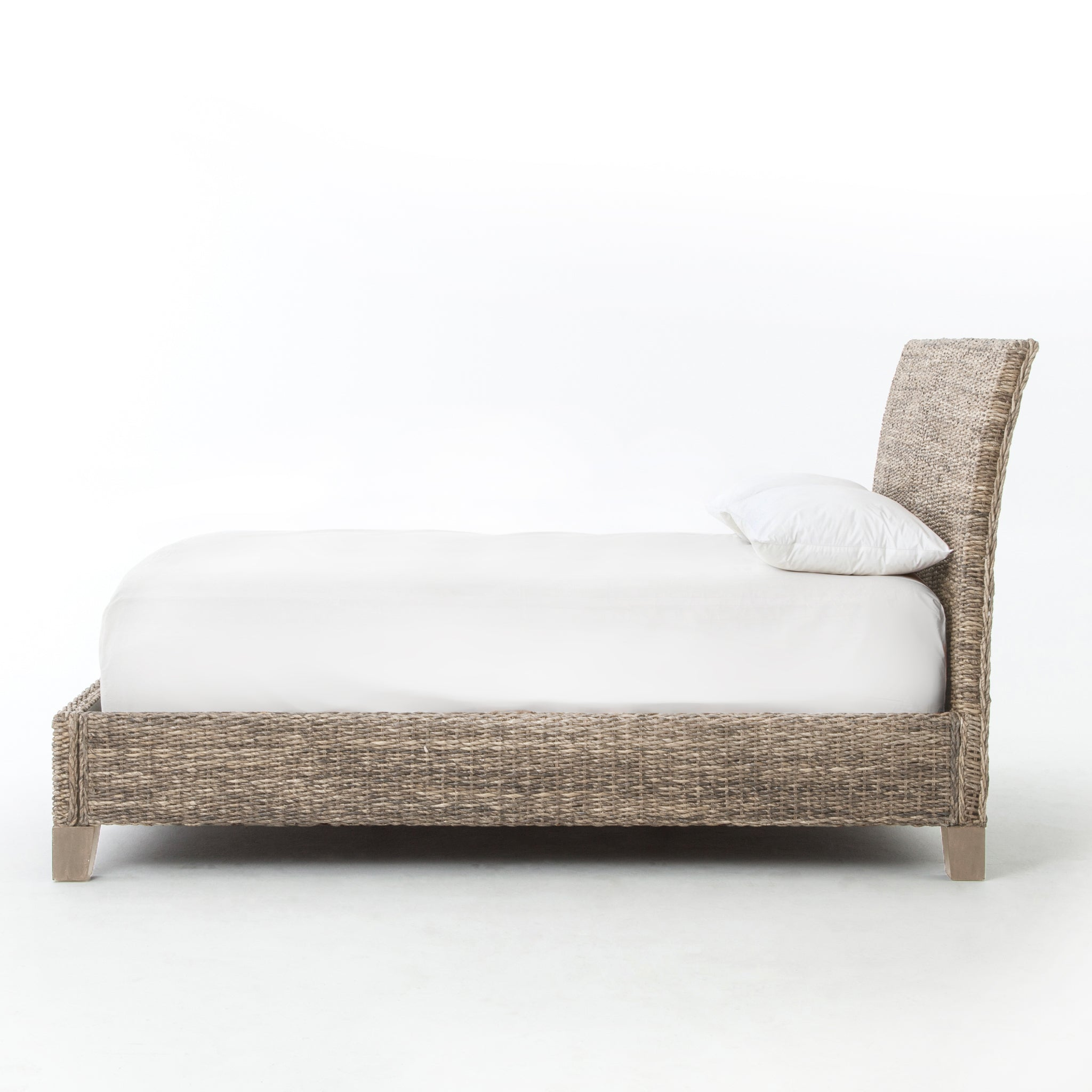 Lanai Banana Leaf Queen Bed-Grey Wash