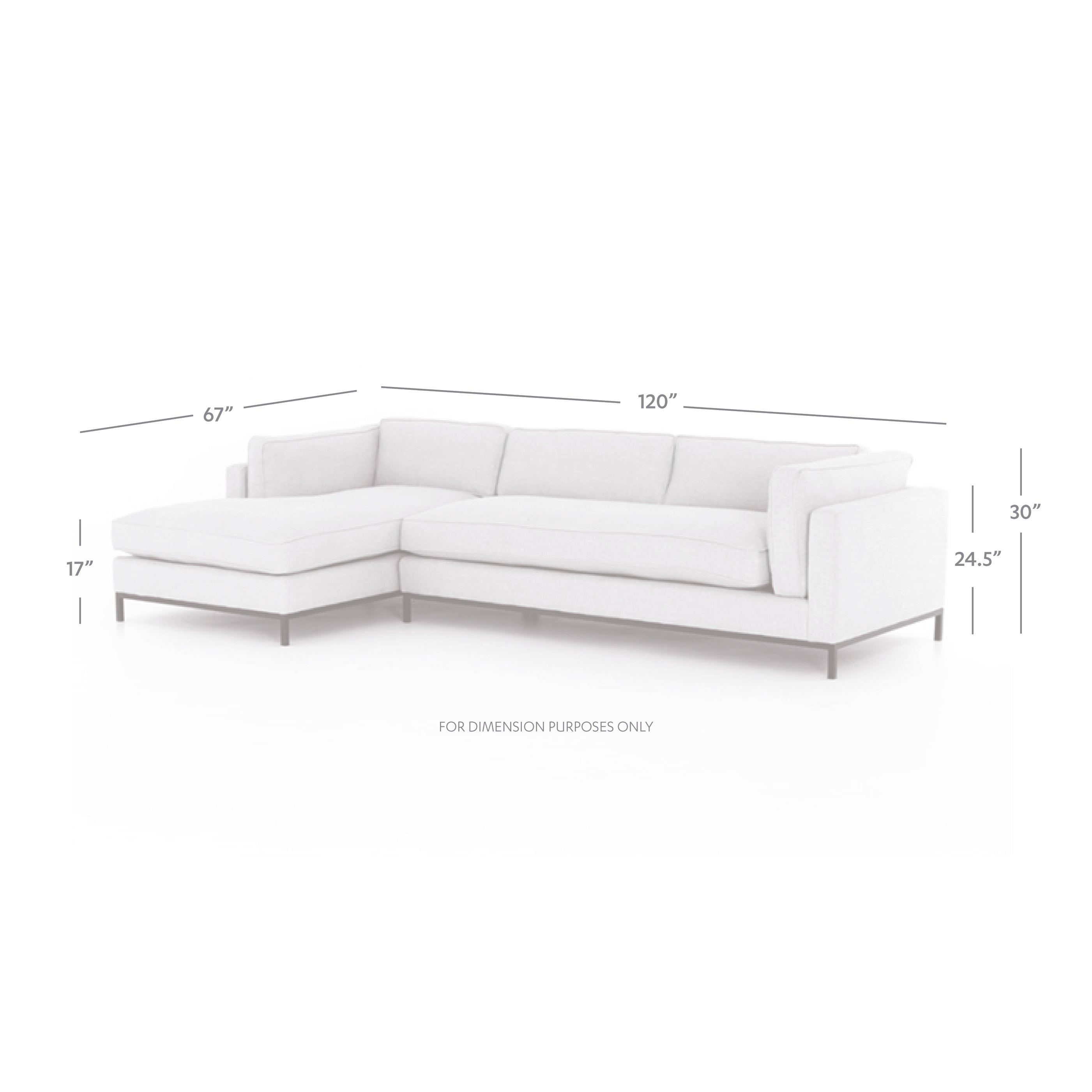 Grammercy 2 Pc Sectional-Laf Chaise-Benn