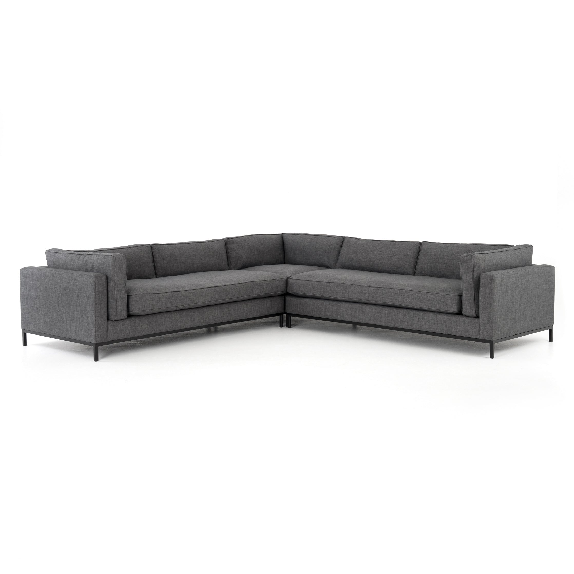 Grammercy 3-Pc Sectional-Bennett Charcoa