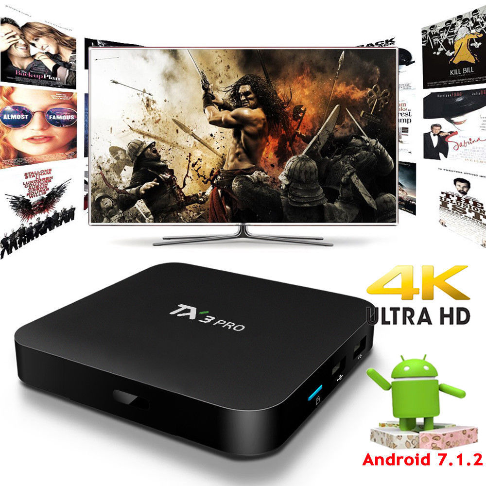 2GB+16GB TX3Mini Android 7.1 Amlogic S905W Quad Core Media WiFi 4K Movie TV BOX