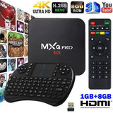 MXQ-4K S905W 64-bit Android 7.1 / 1GB+8GB DDR HD 4K 3D Smart TV Box w/ Keyboard
