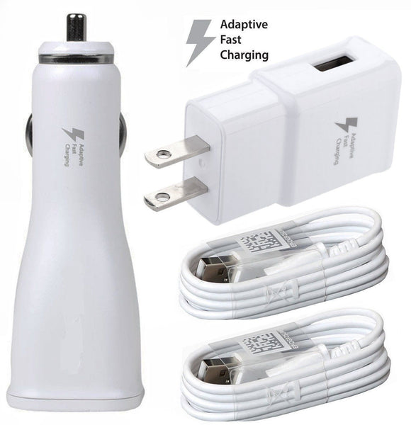 2A Car Charger, Wall Power Adapter, Cable For RCA Pro 10 II RCT6203W46 KC Tablet