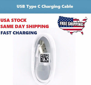For Samsung Galaxy S8 S8 Plus OEM Fast Adaptive Charging Type-C Cable White NEW