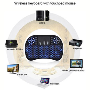 BACKLIT Wireless Mini Keyboard Mouse Touchpad for Android TV Kodi PC XBOX PS3