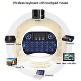 BACKLIT Wireless Mini Keyboard Touchpad Mouse for Android TV Kodi PC XBOX PS3