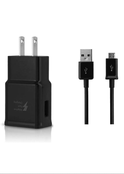3ft Wall Charger Micro USB Cable for Samsung Galaxy S2 S3 S4 HTC Android BLACK