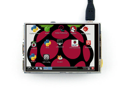 3.5 inch LCD Touch Screen for Raspberry Pi Boards RPi Resistive TFT 320*480 Raspbian KaliPi Support