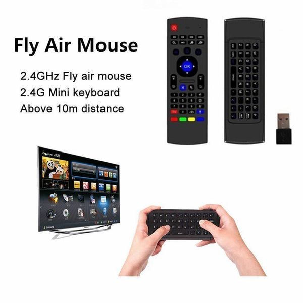 Wireless Keyboard Air Mouse IR Learning Remote For Google Android, LG, SAMSUNG, Sony SMART TV
