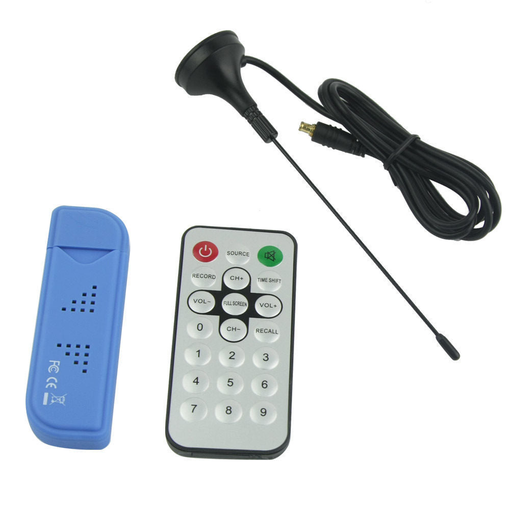 USB DVB-T Digital HD TV Antenna Remote Control Kit for PC Notebook Computer