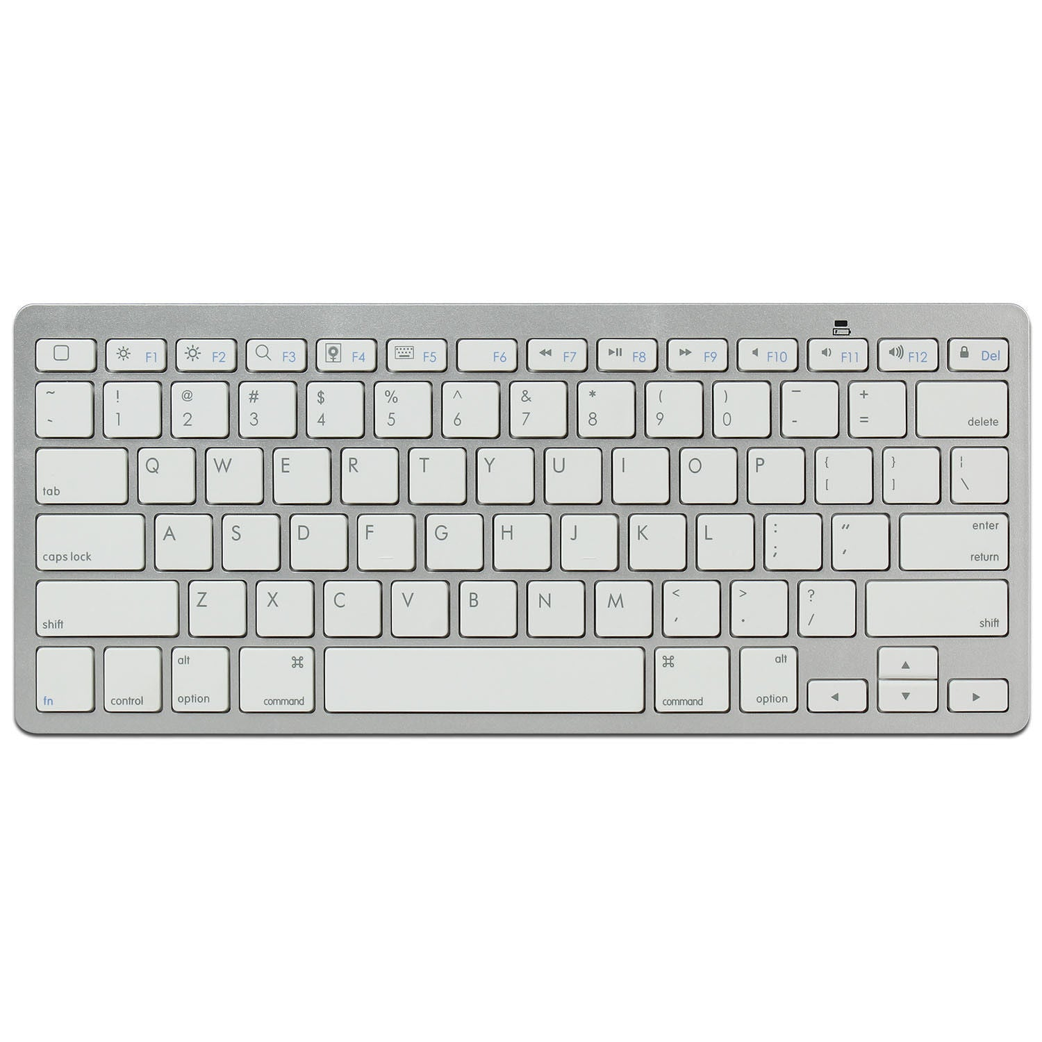 2.4GHz Slim Wireless Keyboard for Apple iPad Mini iPad Air 2/3/4 (Silver/White)