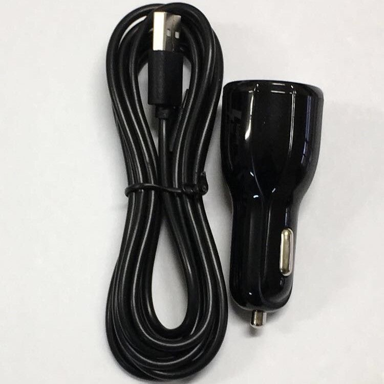 12V Auto Car Charger Travel Adapter for Nintendo Switch + USB Type C Cable Black