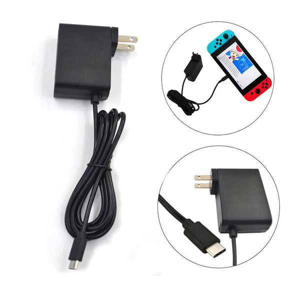 Power Supply for NINTENDO SWITCH Home Wall Travel Charger Adapter AC 110V-240V