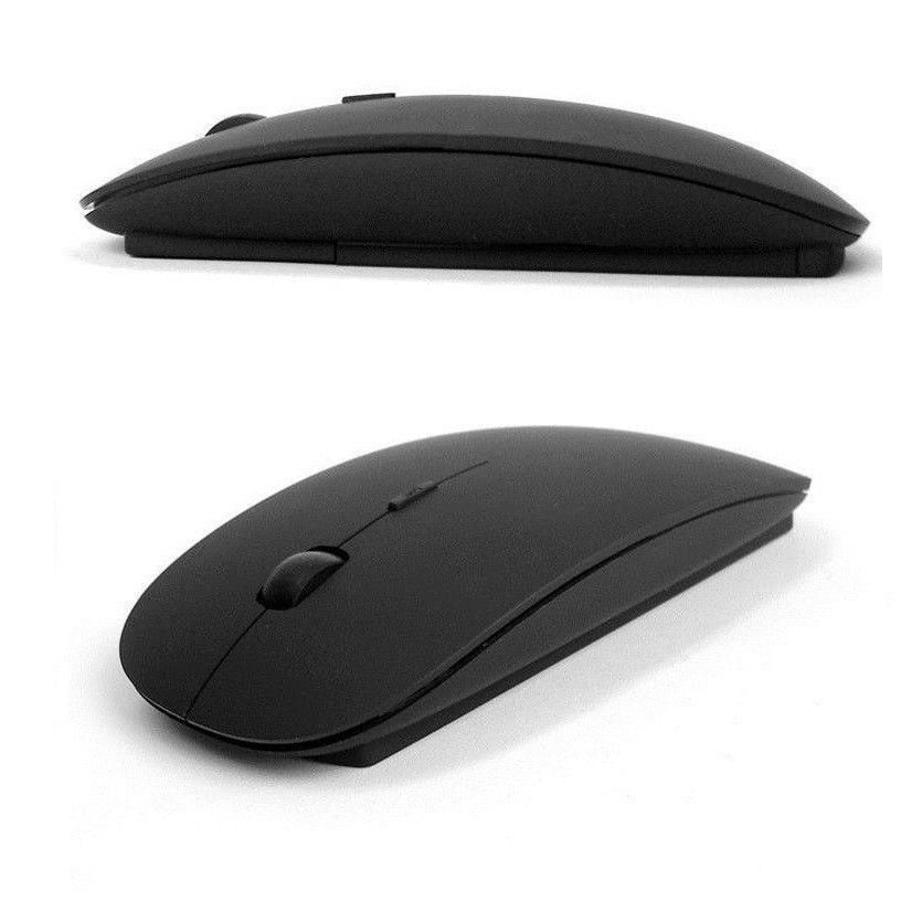 Black 2.4GHz Wireless Mouse Ultrathin Optical with USB Receiver for PC Laptop