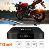 TX3 Mini Android 7.1 2GB+16GB  Amlogic S905W Quad Core Media WiFi 4K Movies BOX