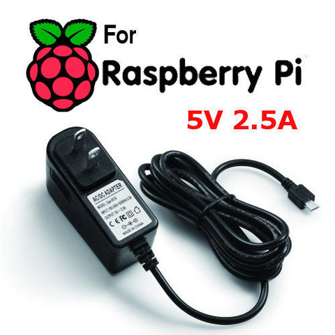 Micro USB Wall Power Supply Converter Adapter for Raspberry Pi 2 3 B B+ 5V 2.5A