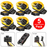 PCI-E 8-pin to 2x 6+2-pin PCIE PCI Express Power Splitter GPU Video Card Cable (5-pack)