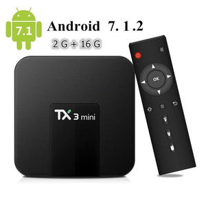 TX3 MINI KODI 17.6 Android 7.1 Quad Core 4K H.265 Smart TV BOX 2GB 16GB