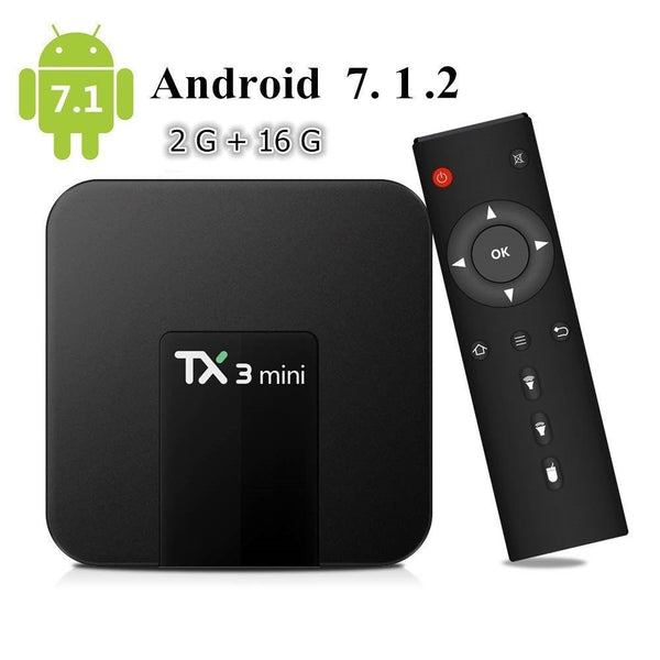 TX3 MINI KODI Latest Android 7.1 Quad Core 4K H.265 Smart TV BOX 2GB 16GB