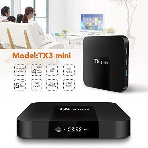 HD 1080P Smart TV Box 2GB+16GB Amlogic Quad Core 2.4G WiFi Android Player TX3