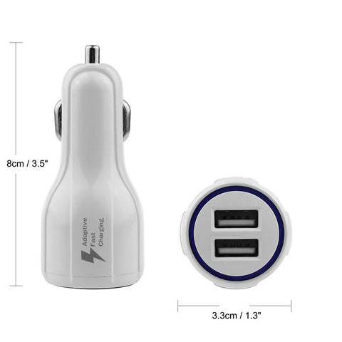 Car Auto Boat Dual 2 Port LED USB 3.1A 12V FAST Phone Charger Lighter Adapter