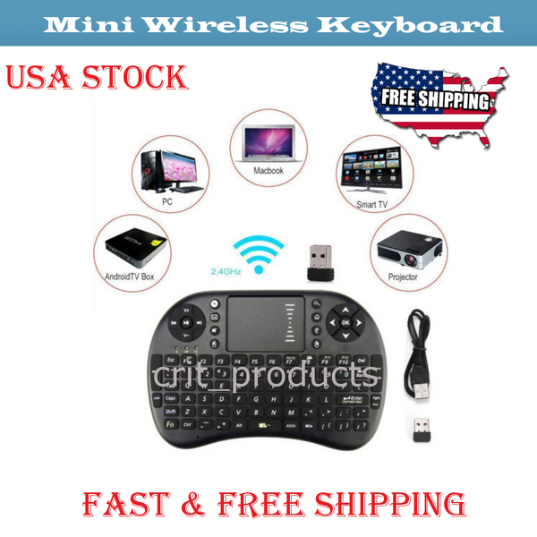 Mini-i8 Wireless Keyboard Touchpad Remote IPTV Google Android KODI SMART TV BOX