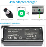 45W 19.5V 2.31A AC Adapter Laptop Charger for Hp 741727-001 740015-002 721092-001 HSTNN-DA40 Compatible with Pavilion TouchSmart 11 13 14 15 Elitebook Folio 1040 G1 G2 G3 M6 G4 G5