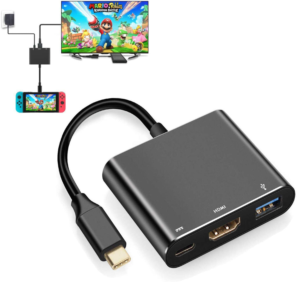 USB HDMI Dock Adapter & Charger for Nintendo Switch