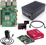 Raspberry Pi 4 Model B KIT 2GB RAM, Black Case, 5V 3A Genuine US Power Supply, HDMI Cable, 16GB micro SD Card w/Noobs, Heat sinks