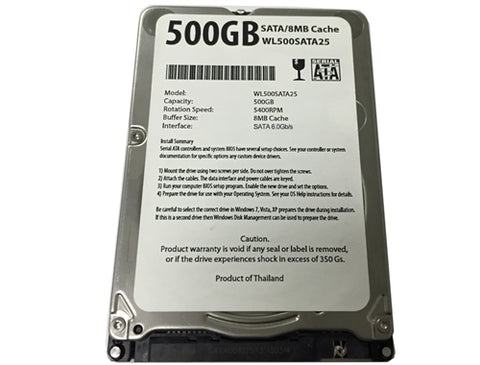 "500GB SATA Hard Drive for Apple Macbook, 8MB Cache 6Gb/s 2.5"" Internal HDD"