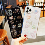 11 Pro 8 7 6  XS Max XR X Plus Phone Case Glitter Bling Sequins Star For iPhone Cover Soft silicone Protective Transparent shell