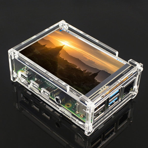 For Raspberry Pi 4 Model B 3.5-inch LCD touch display + touch pen + acrylic transparent case 50 FPS SPI high refresh rate