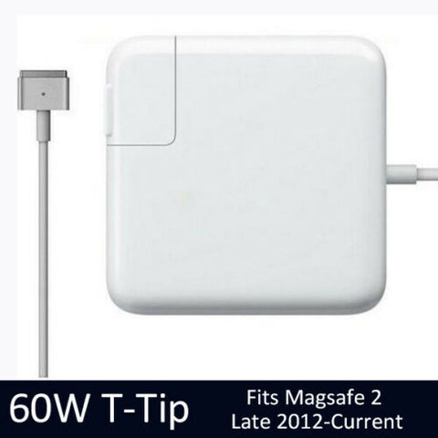 "Model T For Apple 60W 2012-2018 Macbook Air 11"" 13"" MagSafe2 Wall Power Adapter Charger A1425 A1435 A1465 A1466"