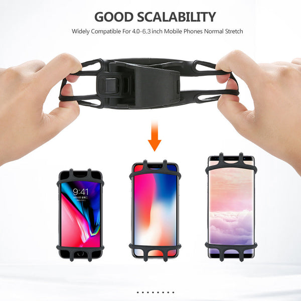 Bicycle Phone Holder for iPhone Samsung Huawei Universal Mobile Cell Phone Holder Anti-Shock Bike Handlebar GPS Mount Bracket