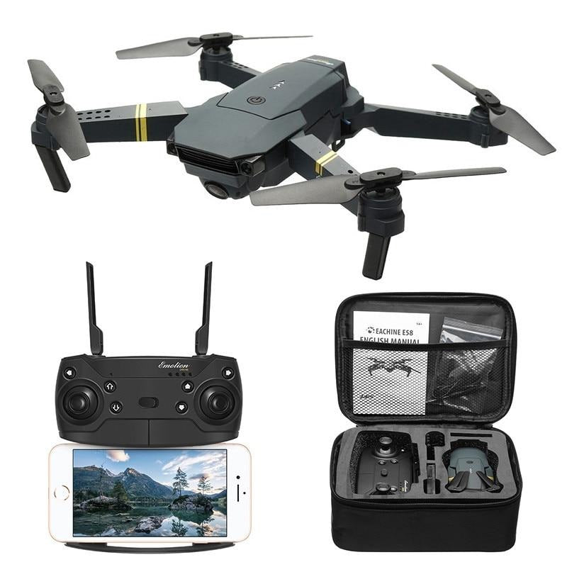 Drone X Pro E58 WIFI FPV Wide Angle HD 720P Camera Foldable Selfie Drone w/2x Batteries