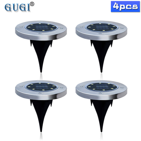 4pcs 8/12/16 LED Solar Light Outdoor Waterproof Solar Lawn Light Decorative Solar Garden Light For Yard Deck Lawn Patio Plaza