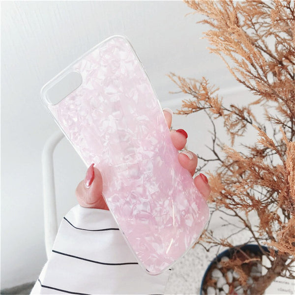 11 Pro 8 7 6 XS Max XR X Plus Glitter Shell Pattern Sparkle Bling Phone Case For iPhone For Apple Cover Soft TPU Cases no logo