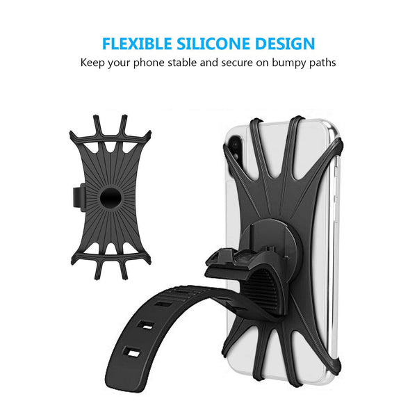 Bicycle Mobile Phone Holder Silicone Motorcycle Bike Handlebar Stand Mount Bracket Bike Mount Phone Holder For iPhone GPS Device
