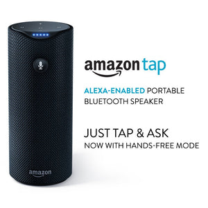 Amazon Tap - Portable Bluetooth Speaker - Alexa-Enabled-Black