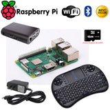 Raspberry Pi 3 Model B Board w/Case 2.5A Power 8GB SD card Keyboard- Starter Kit