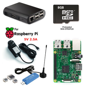 Raspberry Pi Aviation Weather Traffic Kit SDR ADS-B Pre Loaded Stratux, Case, Power