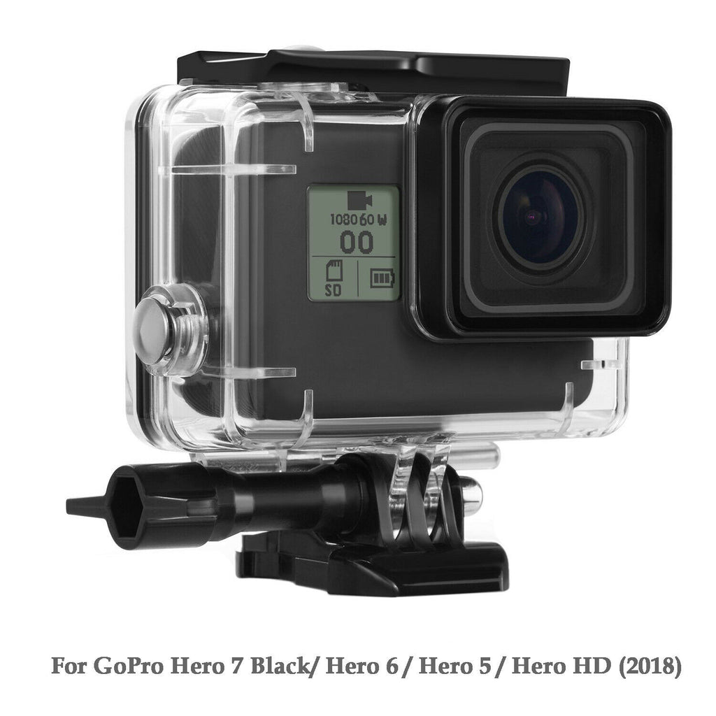 Protective Case for GoPro Hero 5/6/7 Black Waterproof Housing Shell with Bracket
