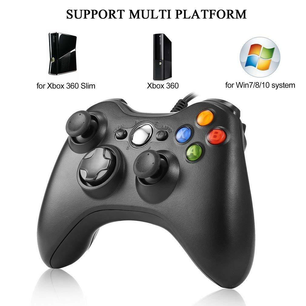 Wired USB Game Controller for Microsoft Xbox 360 / PC Windows